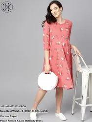 A-Line Maternity Dress