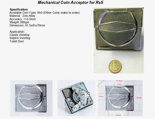 Mechanical Coin Acceptor