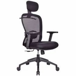 Polyester Mesh Office Chair, For Sitting, Black