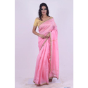 Ladies Chanderi Pink Saree