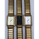 Crony Men Designer Gold Tone Chain Wrist Watch