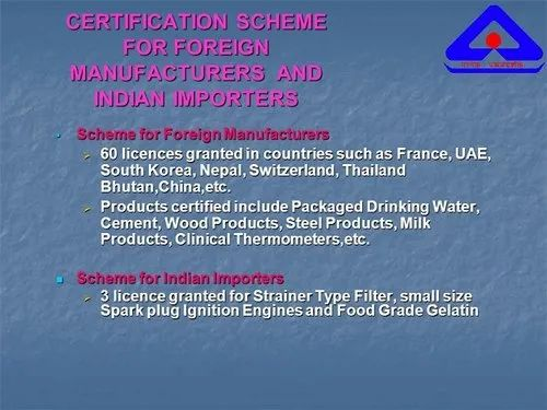 Consulting Firm Foreign Manufacturers Certification Scheme (FMCS