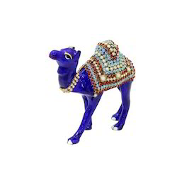 Metal Stone Studded Decorative Camel