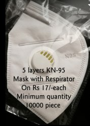 5 layers  N-95 mask with respirator