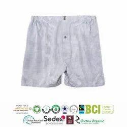 Organic Cotton Slub Yarn Dyed Boxer Shorts