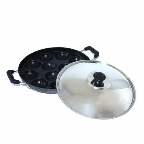 Non Stick 12 Cavity Appam Patra, Size: 230 Mm Diameter, Packaging Type: Box