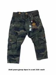Military Green Boys Trousers