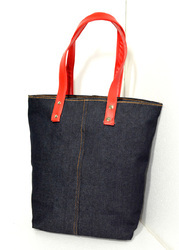 Denim Blue Rubis Bags Denim Handbag