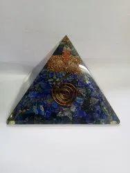 Natural Lapis Lizuli Stone Orgone  Pyramid