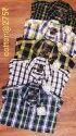 Checked Collar Neck Mens Cotton Check Casual Shirt, Size: 38-42