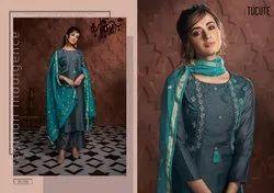 Karma Tucute 720 Series Muga Silk Ready Made Palazzo Style Salwar Kameez