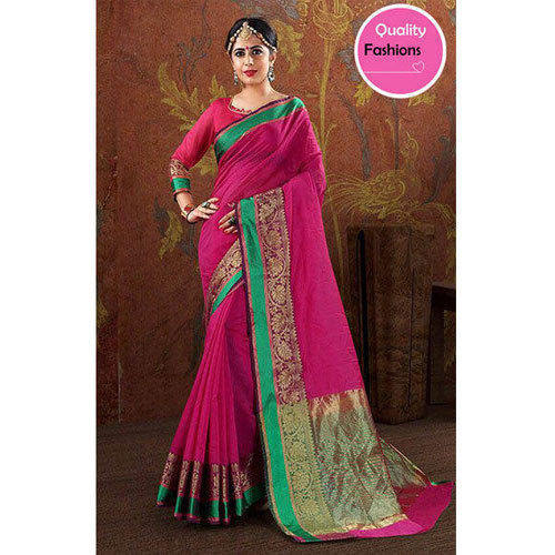 999ef65eb3 Multi-color Silk Dark Pink Saree, With Blouse Piece, Rs 849 /piece ...