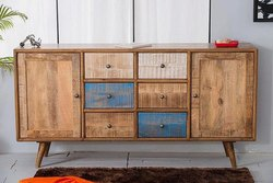 Multicolor Wooden Sideboard