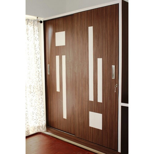 Wood Brown Sliding Door Wardrobe Rs 70000 Unit Kitcraft Kitchens