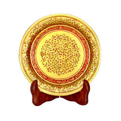 Marble Plate With Gold Work