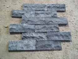 Black Basalt Stone Cladding, Packaging Type: Wooden Packing, Size: 12 X 4 Inch