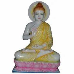 30 Inch Marble Buddha Statue