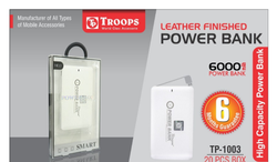 Troops TP-1003 6000 Mat Silm Power Bank Leather