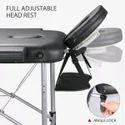 Kawachi Professional Portable Spa Massage Aluminium Table Foldable Massage Table with Carring Bag S5