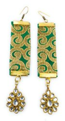 FE008 Handmade Fabric Earrings