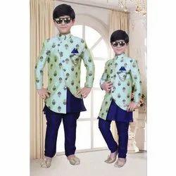 Banarasi Brocade Party Wear Kids Sherwani, 1 - 12 Years