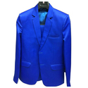 Mens Fancy Royal Blue 2 Piece Suit, Size: 34-44