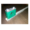 Green And Plastic Tube Clamps With Mounting Rail