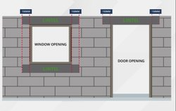 Solid Autoclaved Aerated Concrete Lintel Blocks