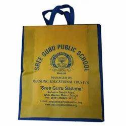 Yellow Printed Non Woven Shopping Bag