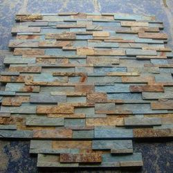 Natural Cut And Machine Cut Slate Wall Cladding, Packaging Type: Wooden Packing