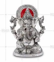 Silver Plated Ganesh Ji Murti