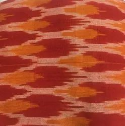Red & White Yarn Dyed Ikat Fabric