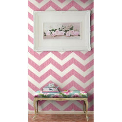 White And Pink Wall Covering