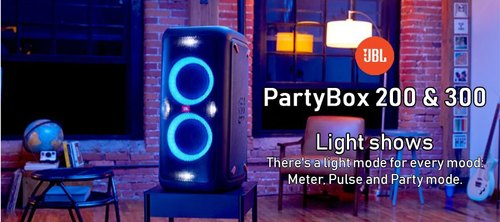 Black JBL Partybox 300, Size: 32 X 31 X 69 cm