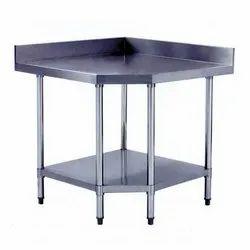 Stainless Steel Corner Work Table