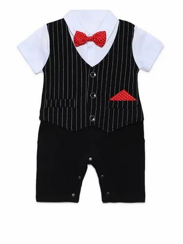 Party Wear Pure Cotton AJ Dezines Kids Rompers Dress Set For Boys