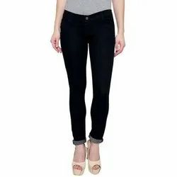 Stretchable Slim Ladies Black Denim Jeans
