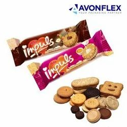 Plastic Laminated Biscuits Packaging Wrappers