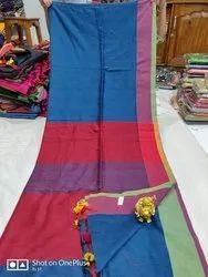 Khadi Cotton Plain Sarees