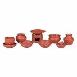 Terracotta Clay Miniature Cooking Sets