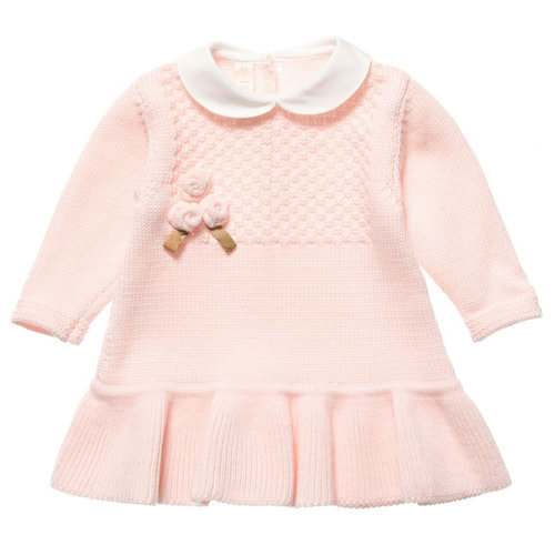 Peach Color Baby Girls Knit Wear