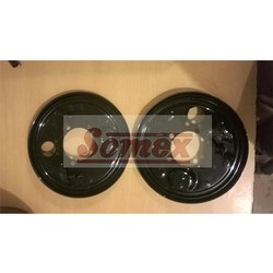 Aluminum Bajaj Re Brake Shoe Plate Set Of 2 Pcs, Packaging Type: Box