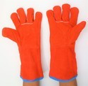 Red Welding Leather Safety Hand Gloves