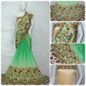 Women's Arrival Chiffon Shade Effect Saree, Length: 5.5 M