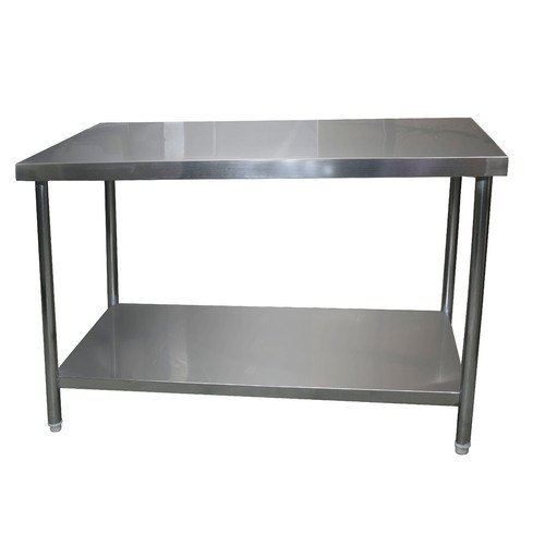 Rectangular Silver Stainless Steel Work Table, Size: 48 X 30 X 24 Inch