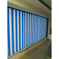 PVC Blue and White Vertical Blind