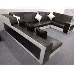 U Shape Leather Sofa Set