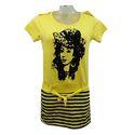Ladies Yellow Printed Top