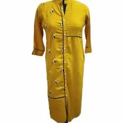 Collar Formal Wear Ladies Cotton Long Kurti