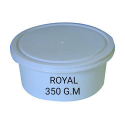 Royal Plastic White 350gm Plastic Round Packaging Container, For Packing